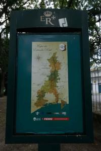 Mapa da Rota do Ouro