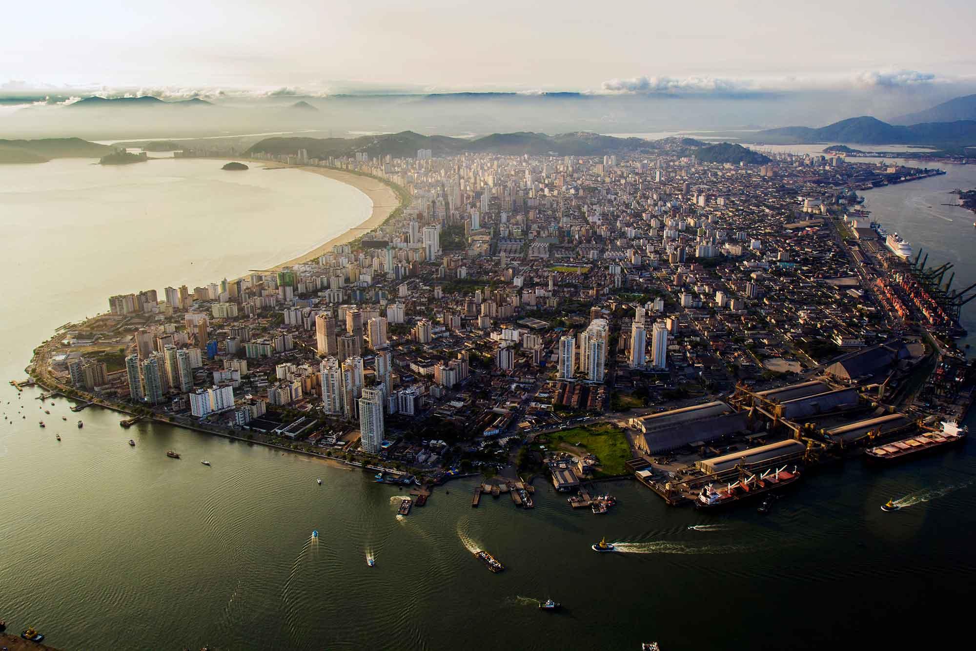 Vista aérea Santos