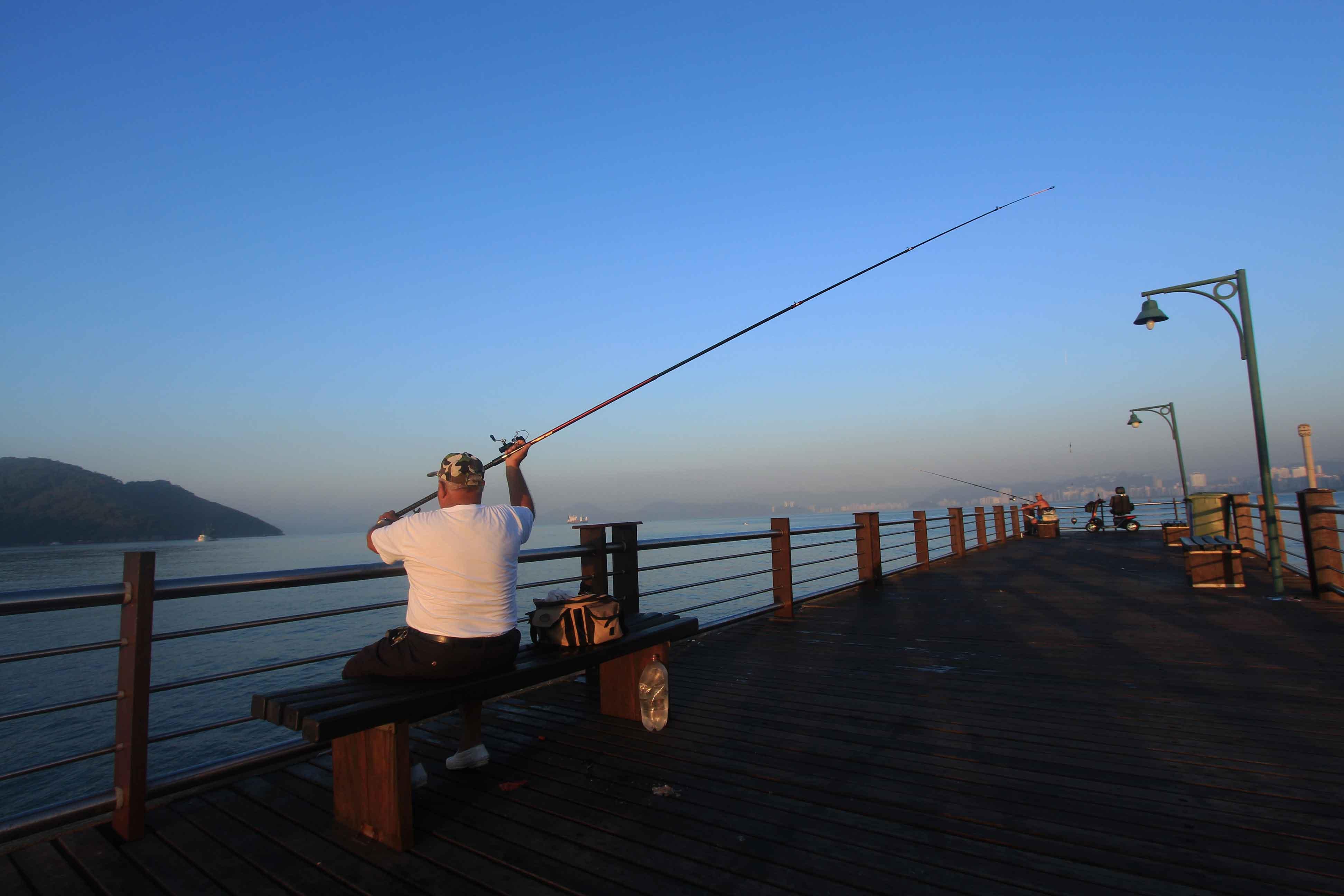 Deque dos Pescadores em Santos