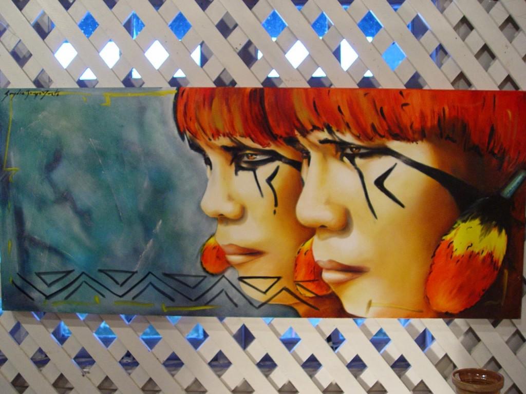 Arte de Sandro Justo - Bertioga-Artes-Sandro-Justo-Guerreiros-Yawalapiti-bx