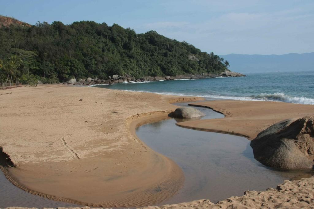 Praia do Jabaquara. Foto: Tatyana Andrade