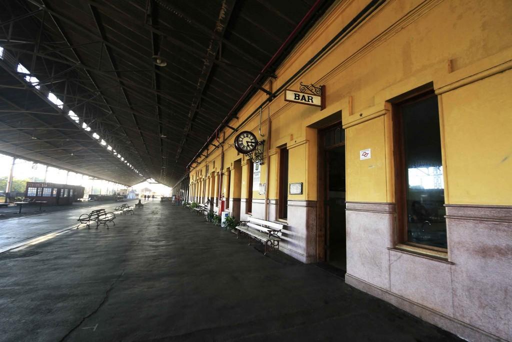 Companhia Mogiana em Campinas-Interior da Estação Mogiana