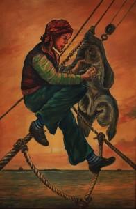 Pintura de Carlos Alfredo Hablitzet - óleo sobre tela