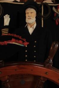 Reprodução do Capitão Edward John Smith (1850-1912), que comandou oTransatlântico Titanc