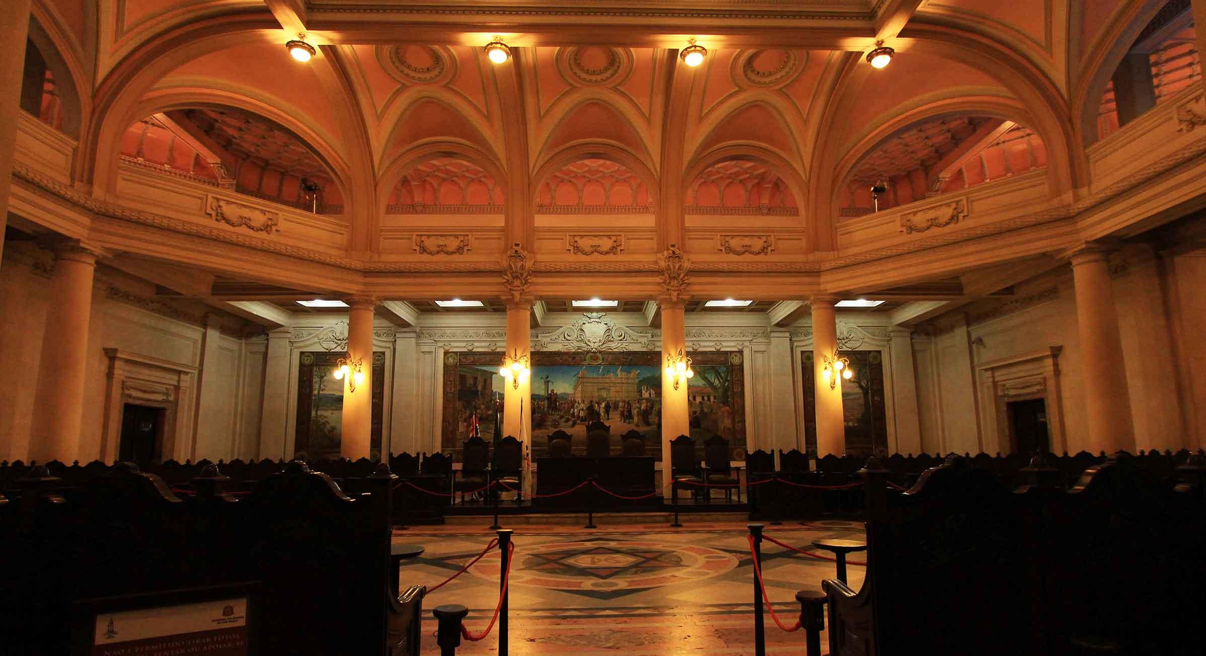 Museu do Café - Salão do pregão da bolsa de café