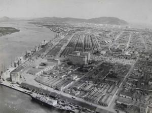 Vista aérea do Porto - década de 1960