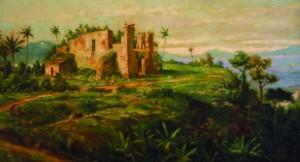 Ruínas Coloniais da Capela de Nossa Senhora das Neves - óleo sobre tela - Benedicto Calixto