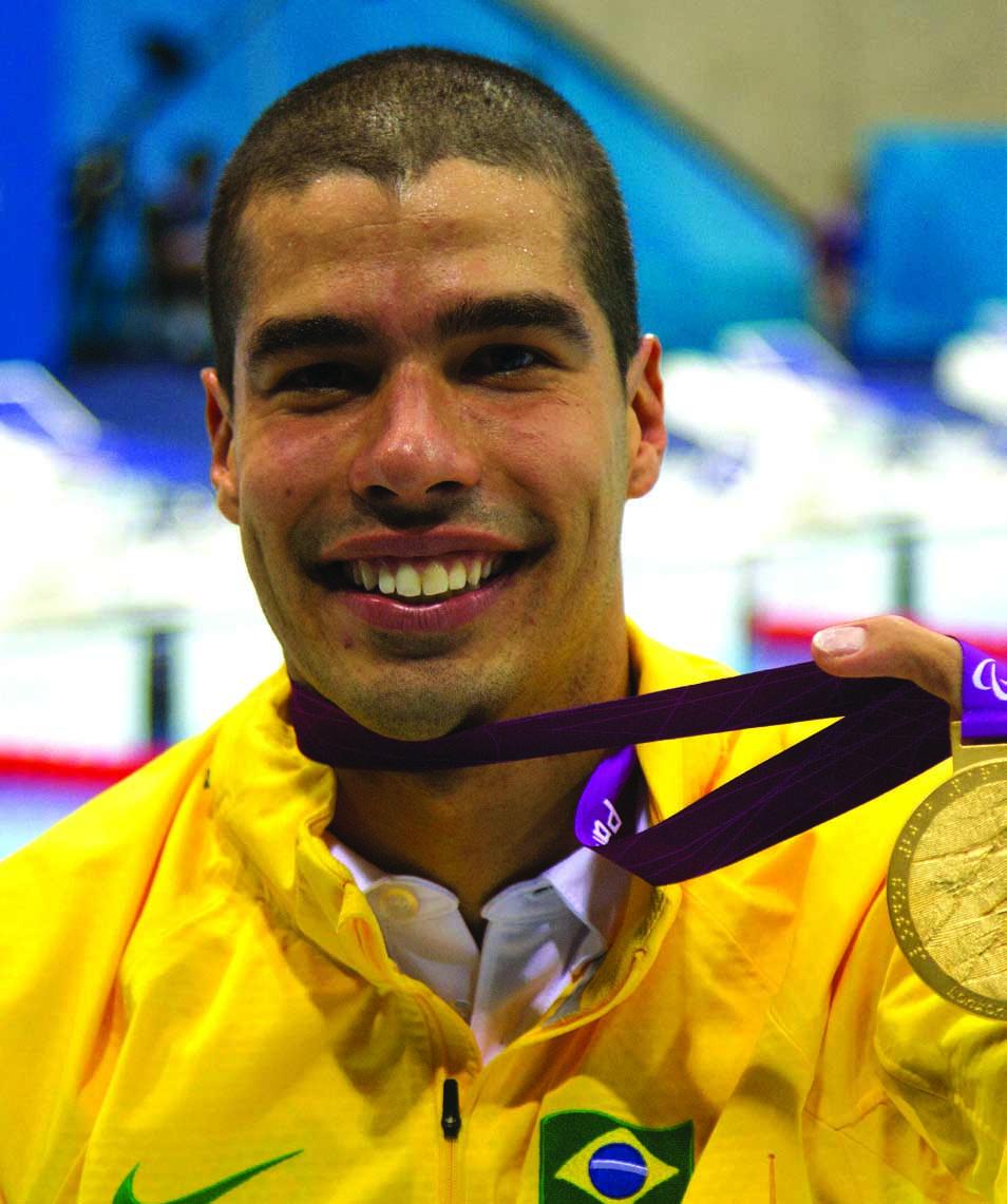 Paralimpíada de Londres - 2012 - Ouro nos 100m peito