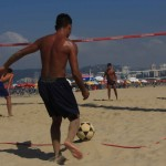 Esportes na areia de Santos
