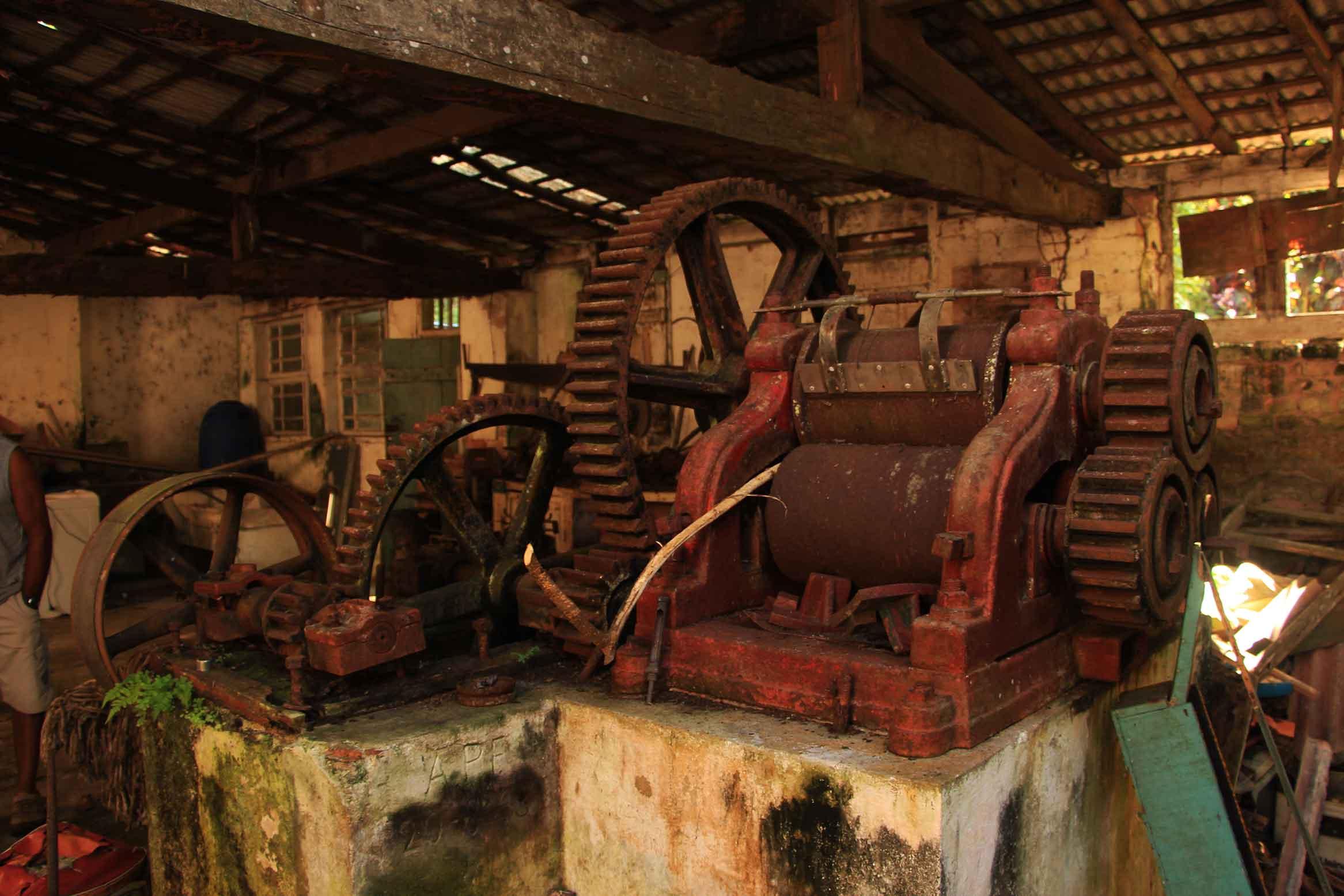 Moenda de cana-de-açúcar. cultivo próspero no Morro da Nova Cintra