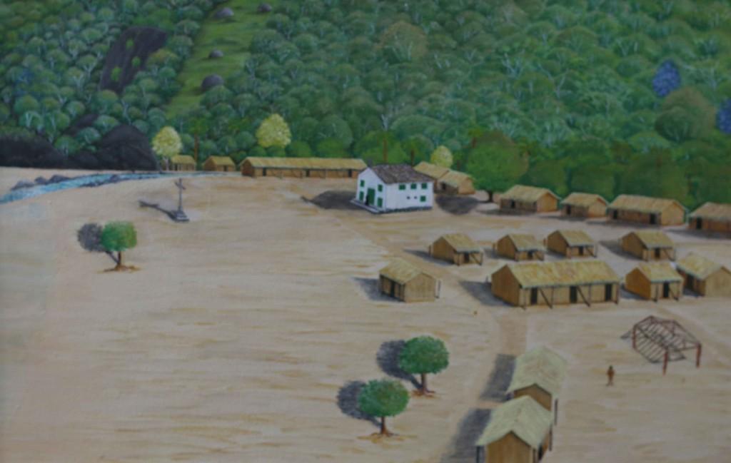 Arraial indígena da Vila de Nossa Senhora da Guia de Mangaratiba (Reprodução - Acervo Museu Municipal de Mangaratiba)