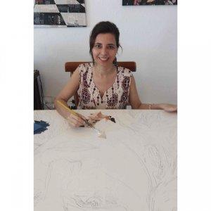 10 de Fevereiro. Silvana iniciando mais uma obra.