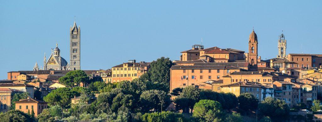 Vista Panoramica de Siena Itália